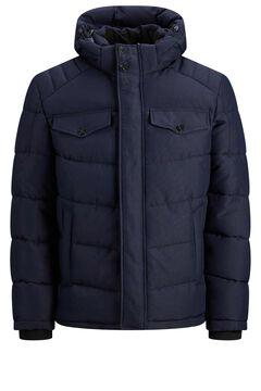 Springfield Padded jacket with hood kék