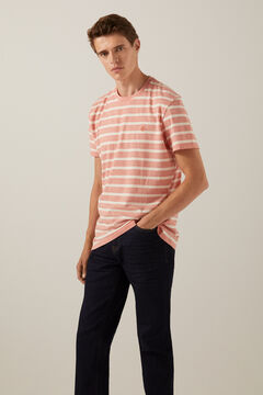 Springfield Essential striped T-shirt terracotta