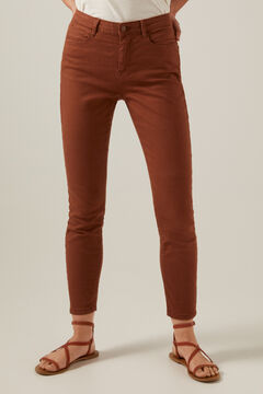Springfield Slim cropped eco dye coloured trousers 36