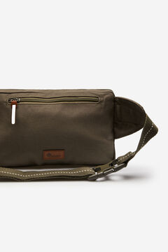 Springfield Khaki combination fabric bumbag dark gray