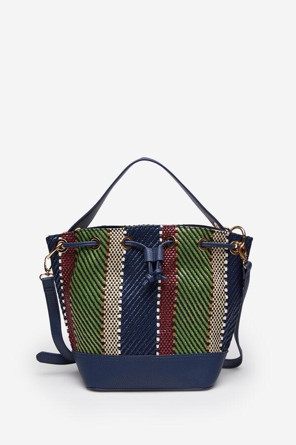 89f0cb30808 Springfield Bolso saca trenzado rafia multicolor verde
