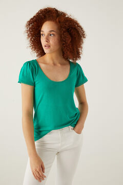 Springfield Lace bobbles t-shirt mallow