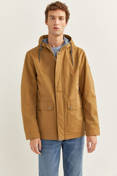 Springfield WATER-REPELLENT HOODED PARKA medium beige