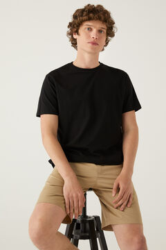 Springfield T-shirt básica árvore preto