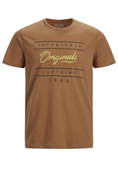 Springfield Sustainable printed t-shirt brown