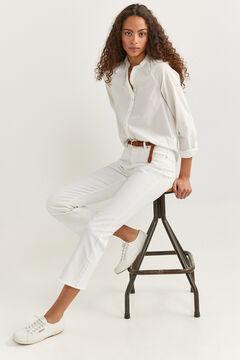 Springfield Jeans Kick Flare blanco
