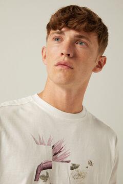 Springfield Long-sleeved urban T-shirt white