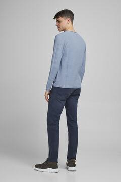 Springfield Plain round neck jumper bluish