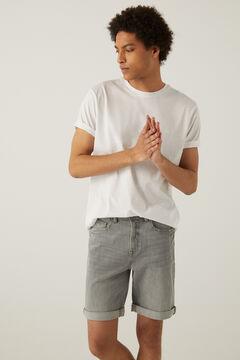 Springfield Grey medium wash denim Bermuda shorts grey