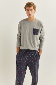 Springfield Pyjama Basketball-Print blau