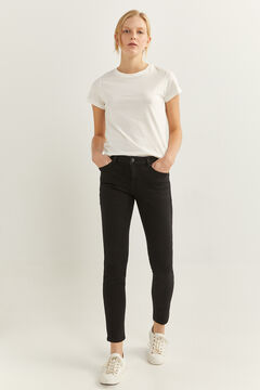 Springfield Sustainable wash slim recycled cotton jeans black
