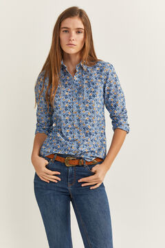 Springfield Camisa Chambray Flores azulado