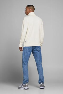 Springfield Sustainable high neck jumper white