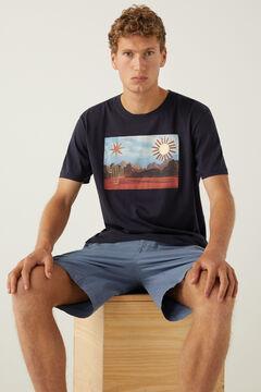 Springfield Cactus T-shirt blue