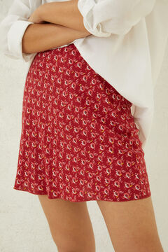 Springfield Printed short skirt red