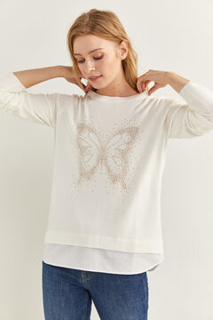 Springfield Crystal Butterfly Jumper medium beige