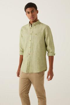 Springfield Linen shirt green