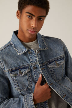 Springfield Medium wash denim jacket steel blue