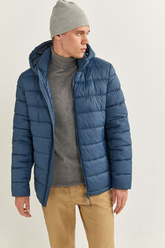 Springfield QUILTED JACKET WITH DUPONT™ SORONA® PADDING AND REMOVABLE HOOD mallow