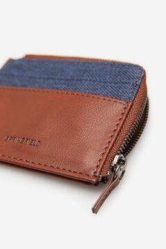 Springfield Combination fabric purse blue