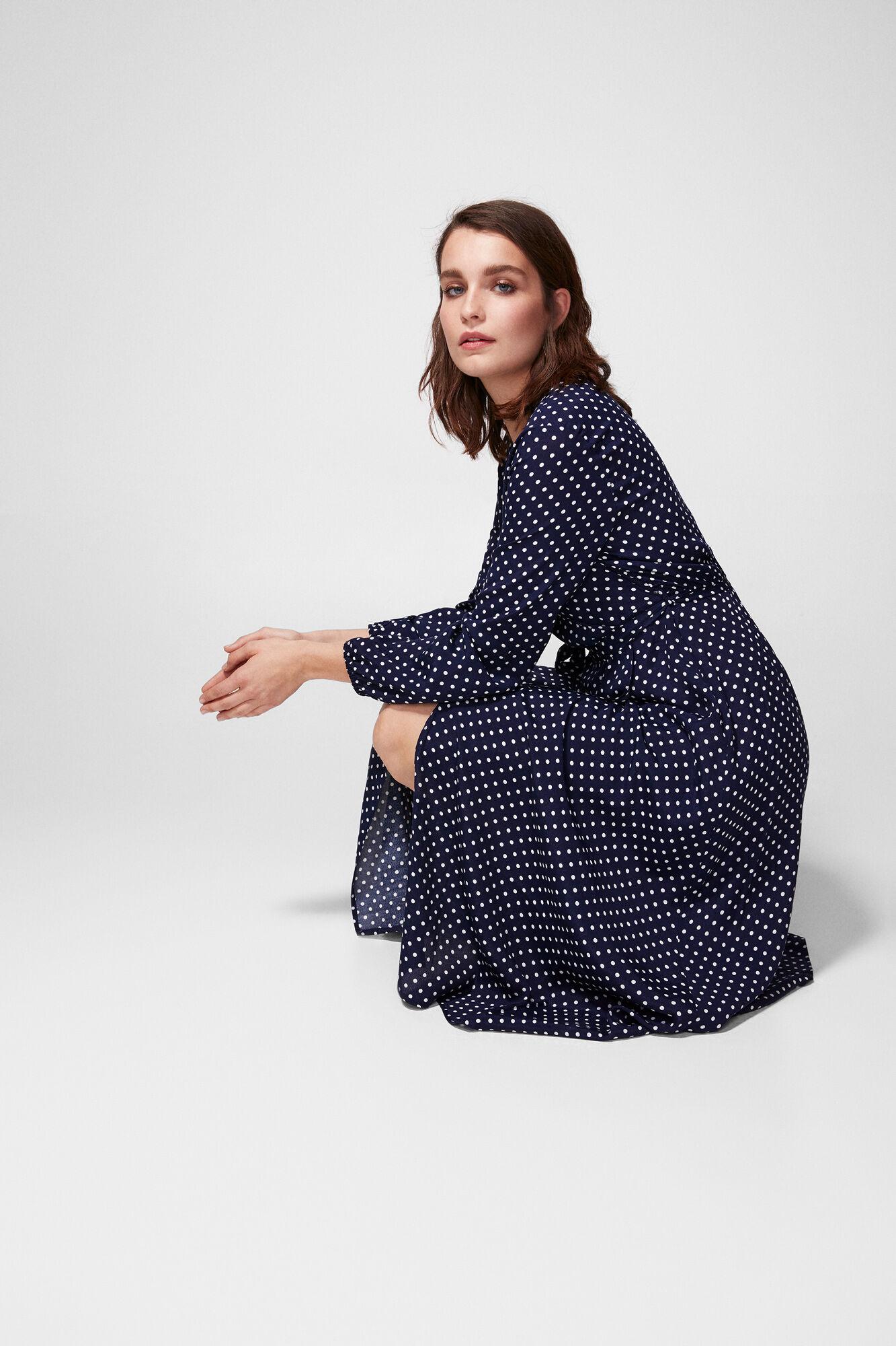 d1c57238c0b2e Midi polka dot dress   Dresses   Springfield Man & Woman