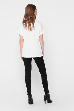 Springfield Loose short-sleeved top blanc