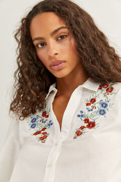 Springfield Floral Embroidery Shirt ecru