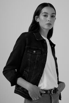 Springfield Organic cotton denim jacket black