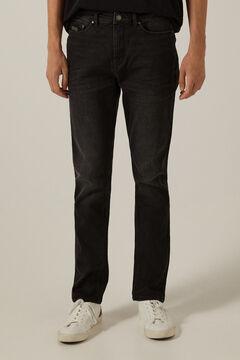 Springfield Black wash slim fit jeans light gray
