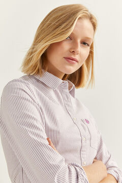Springfield Organic Cotton Oxford Shirt  purple