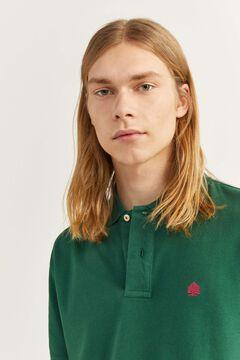 Springfield Poloshirt Piqué Klassisch grüne jagd