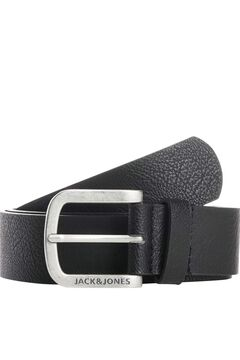 Springfield Rugged effect leather belt fekete