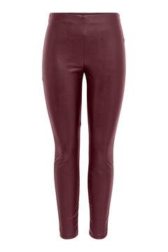 Springfield Leather elasticated waist leggings brick