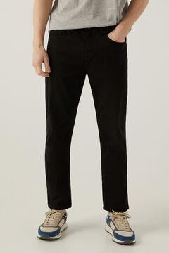 Springfield 5 zsebes mosott nadrág fekete