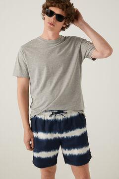 Springfield Tie dye print swimming shorts navy mix
