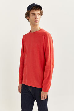 Springfield Melange cotton jumper with elbow pads red