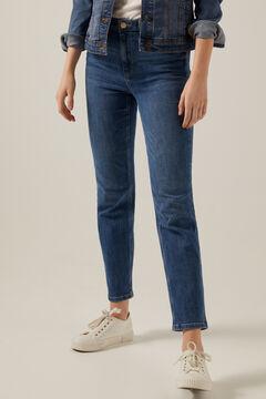 Springfield Jeans straight algodón reciclado lavado sostenible azul acero
