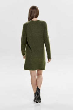 Springfield Jersey-knit mock turtleneck dress brown