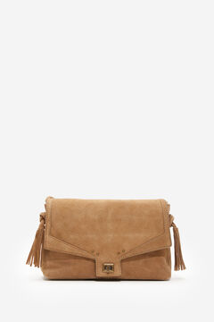 Springfield Split Leather Tassel Bag brown