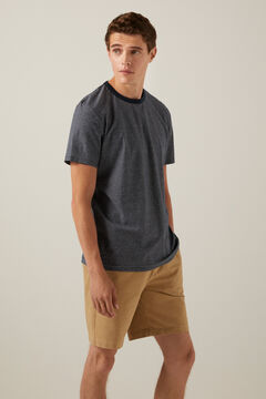 Springfield All-over ethnic print T-shirt blue