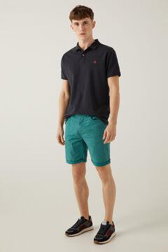 Springfield 5 pocket slim distressed Bermuda shorts green