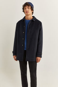 Springfield SHORT RECYCLED WOOL BLEND COAT navy