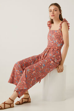 Springfield Long paisley print jumpsuit royal red