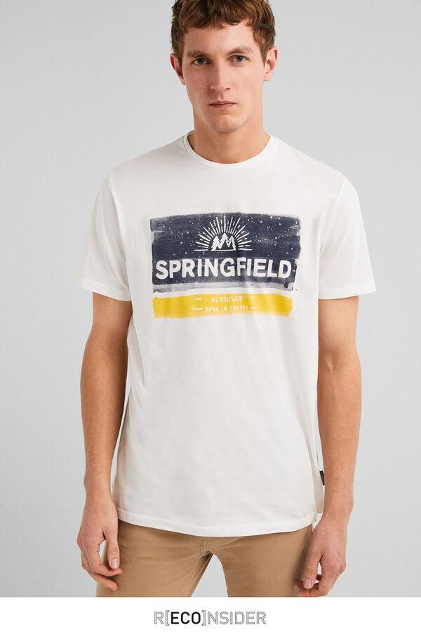 c419bc8a4 Springfield Brush print t-shirt ecru