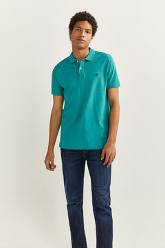 Springfield Polo slim basique blue