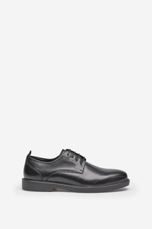 f0d6fa7da9d6 Springfield Chaussure blucher en cuir nappa noir, lacets cirés negro