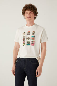 Springfield Polaroid t-shirt ecru