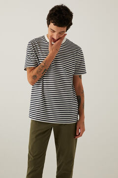 Springfield Stripy t-shirt black