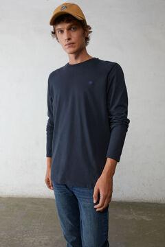 Springfield Camiseta manga larga básica marino