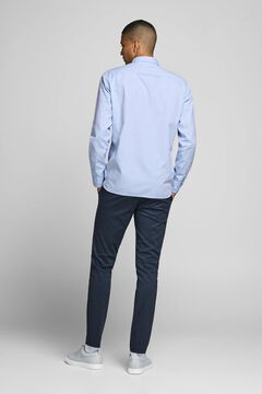 Springfield Basic cotton shirt blue mix